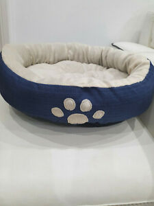 Pet Dog Cat Calming Bed Comfy Fluffy Warm Bed Nest Donut Round 55cm diff colours