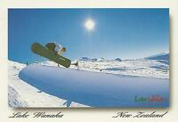 SNOWBOARDING at LAKE WANAKA NEW ZEALAND POSTCARD - NZ PC