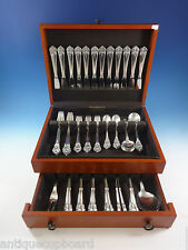 Greta by O. Mogensen Danish Sterling Silver Flatware Set Service 74 Pieces