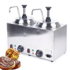 New Listingelectric Nacho Cheese Warmer Pump Dispenser Condiment Melter 2 Pump 30 110