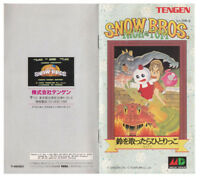 Color Custom Manual SNOW BROS Mega Drive JAP Version - AAA+++