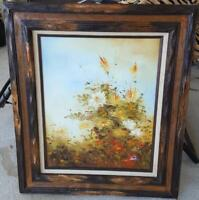 Beautiful Vintage Oil on Canvas Original Painting - Signed Jack - Framed - VGC