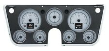 1967 -72 Chevy Truck C10 Dakota Digital Silver Alloy HDX Customizable Gauge Kit
