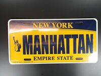 New York Manhattan Plate Metall Schild Metal 30 cm USA,The Empire State ..