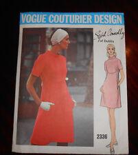Vintage 1960's VOGUE COUTURIER DESIGN Sybil Conolly Dublin Pattern 2336 Sz 16 UC