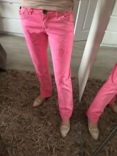 River Island Uk8 Uk10  L32 Jeans Stretch Straight Slim Skinny Pink Ripped £65