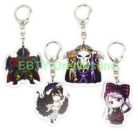 Set of 4 Overlord Anime Acrylic Keychain Momonga Ainz Ooal Gown Albedo Shalltear