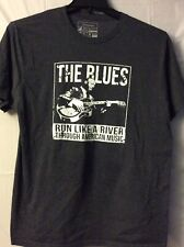 The Blues.  Shirt  Grey. Sz. L