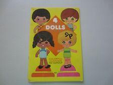 Four Pushout Dolls, paper dolls, colorful clothes by Lowe, Vintage