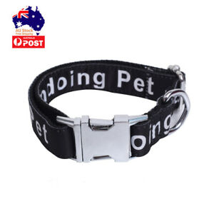 Dog Collar Pet Training Collar Cat Neck Strap Adjustable Side Release XS-L