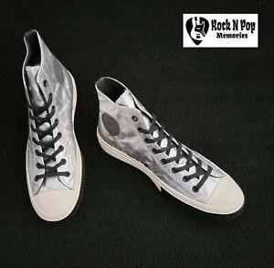 """Converse Men Chuck 70 Hi """"Flight School"""" Metallic 165050C Silver/Black/Egret NWB"""