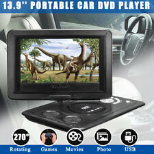 13.9'' Portable Car Mini TV HD DVD Player 16:9 LCD Screen FM USB + 300 Games
