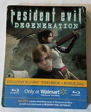 Resident Evil RE Degeneration Walmart Exclusive Bluray DVD Steelbook + Bonus NEW