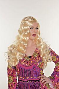 Blonde Hippie Wavy Wig 60's  - Ladies Hippy 60s 70s 502
