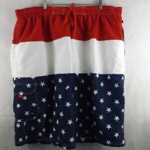 NWT Mens NBN GEAR Swim Trunks - Patriotic - Sz 5XL
