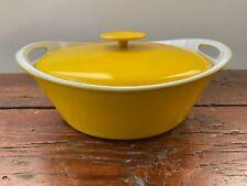 Mid Century Modern Yellow Enamel Ware Dutch Oven Pot Mod Mcm Danish Dansk Style