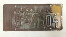 1946 KANSAS Dickinson County License Plate 18-4604