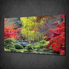 Puente en Japón cartel de Imagen de Impresión de lona bosque Jardín Listo Para Colgar