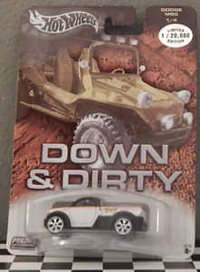 Dodge M80 Truck Tear Drop 6 Real Riders Hot Wheels Metal Collection Down & Dirty