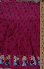 Pre-Smocked Shirred Sundress Fabric Anna Elsa Frozen Pink Floral A415.08