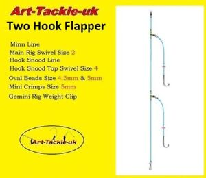 5 Basic Two Hook Flapper Rig made by Art-Tackle
