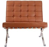 Lounge Chair Leather Modern Brown (CHAIR ONLY)