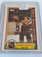 1989-90 Topps Sticker Inserts #3 Mario Lemieux : Pittsburgh Penguins