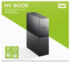 """HARD DISK ESTERNO 3,5"""" WD 8TB MY BOOK WESTERN DIGITAL WDBBGB0080HBK-EESN"""