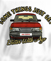 Men's Somethings..Saab 900 Turbo Classic Car Printed T-Shirt Free UK Delivery