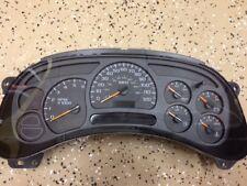 121K miles NO EXCHANGE Chevy Silverado GMC Sierra gauge cluster 03 04 2003 2004