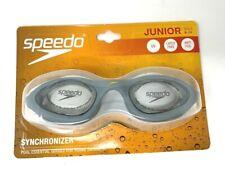Speedo Junior Goggles Synchronizer Swimming Googles Swim Under Water Latex Free