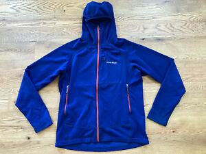 Montbell TRAIL ACTION PARKA Mens Hoody Ski Hike Climb Run Mountain Large Blue