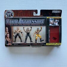NEW WWE Kane, Undertaker & Chris Benoit Micro Aggression Figure Set 3-Pack