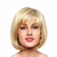 BLONDE UNICORN Short Sexy Blonde Bob Wigs Human Hair Wigs for Women