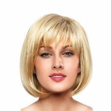 BLONDE UNICORN Short Sexy Blonde Bob Wigs Human Hair Wigs for Women