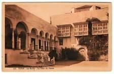 Postal Túnez. Le Bardo - La Cour du Palais. Nº 122. Edit. Librairie Saliba