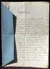 Acte notarié Strasbourg 1810 Grimmer notaire, Jean North