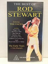 THE BEST OF ROD STEWART featuring THE FACES ~ A VIDEO BIOGRAPHY ~ RARE VHS VIDEO