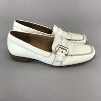 GABOR Comfort Ladies White Leather Slip On Loafers Shoes Size UK4.5 H EU37.5 VGC