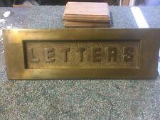 More details for large vintage brass reclaimed letter box