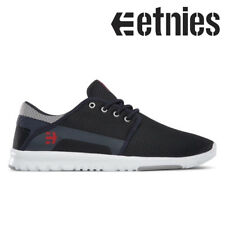 ETNIES SCOUT SKATE SHOES TRAINERS - NAVY / GREY / RED