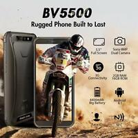 "5.5"" Blackview BV5500 Rugged Mobile Phone IP68 Waterproof Unlocked 3G Smartphone"