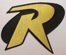 "Batman Robin ""R"" Letter Logo Costume Halloween Cosplay Iron On Patch 4.25"""
