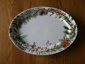 Williams Sonoma Woodland Berry Large Oval Serving Platter-Christmas-Up North-New