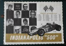 1971 Indianapolis Motor Speedway Indy 500 Winners placemat-Andretti-Unsers-Foyt!