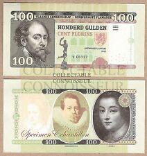 Belgique-Flandres 100 gulden florins 2015 UNC SPECIMEN Test banknote Rubens