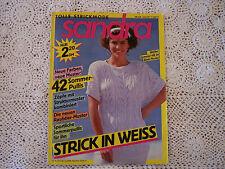 """Strickheft, Handarbeitsheft: Sandra """"Strick in weiß"""""""