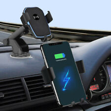 US 2 in 1 Qi Wireless Fast Charging Car Charger Mount Holder Stand For iPhone 11