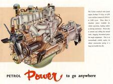 LAND Rover Serie 1960-II MOTORE A BENZINA BROCHURE POSTER Retrò Classico annuncio A3