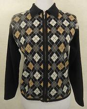 Damen-Strickjacken mit Karo -/Rauten-Muster und Reißverschluss